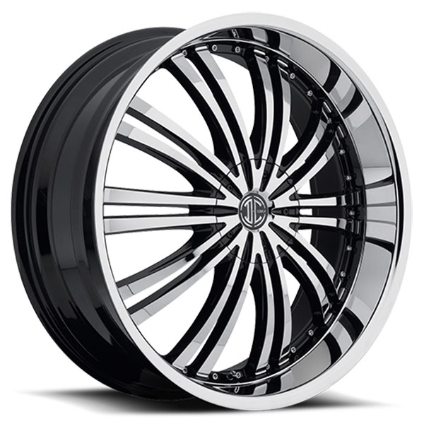 2 Crave No.1 Gloss Black with Machined Face and Chrome Lip