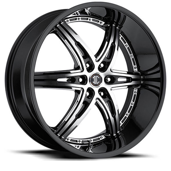 2 Crave No.16 Gloss Black with Machined Face and Chrome Inserts