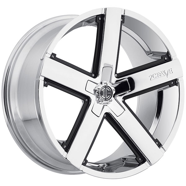 2 Crave No.35 Chrome with Black Inserts
