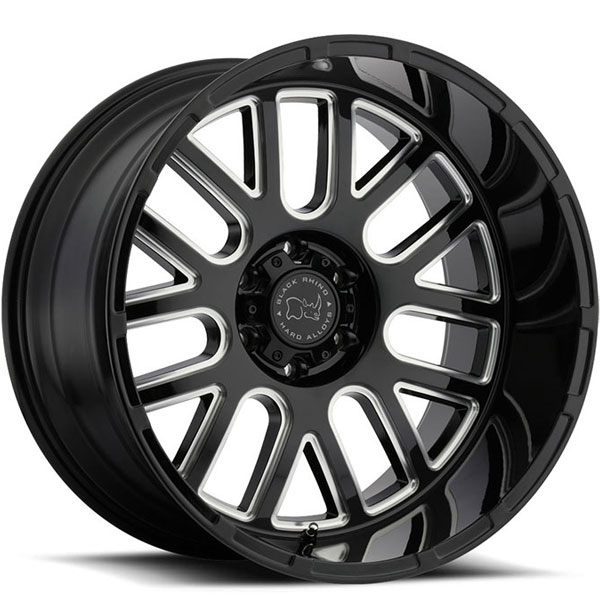 Black Rhino Pismo Gloss Black with Milled Spokes 12 Inch