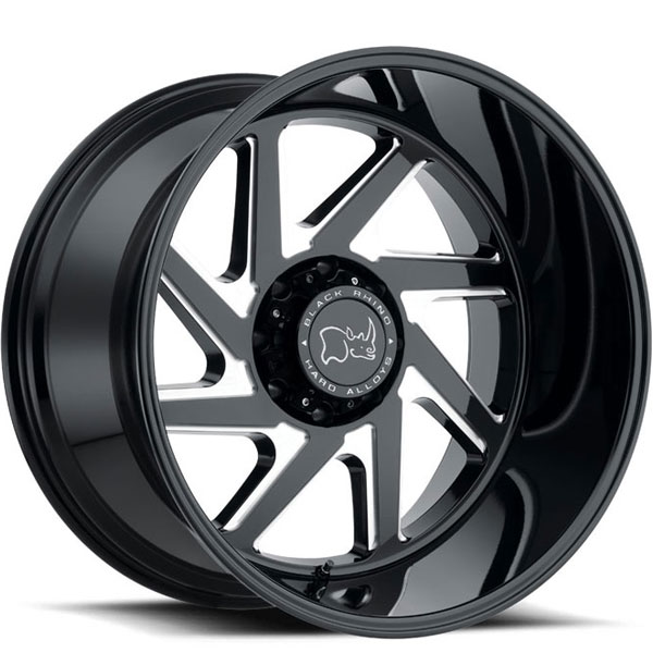Black Rhino Swerve Gloss Black with Double Milled Spokes