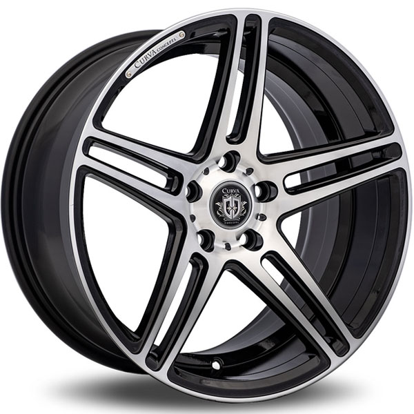 Curva Concepts C5 Matte Black with Machined Face