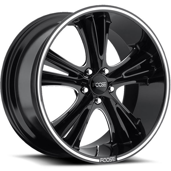 Foose Knuckle Buster F152 Gloss Black with Milled