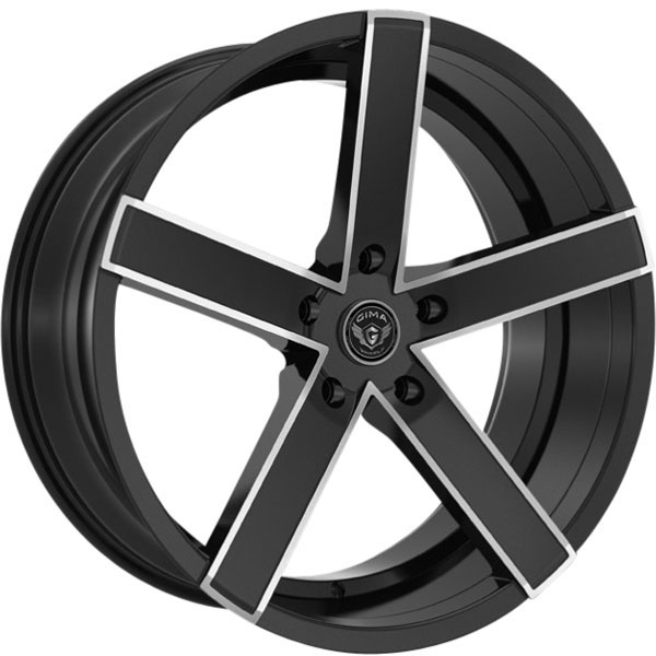 Gima Bravo 5 Black with Machined Spoke Edges