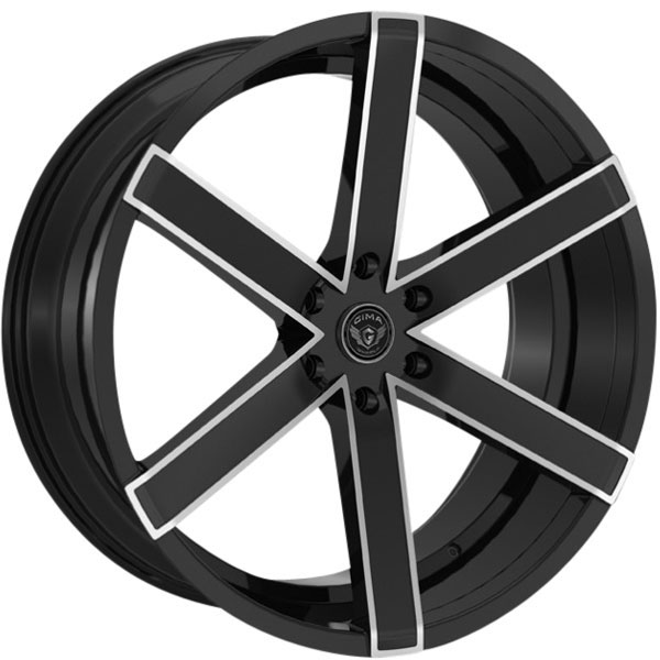 Gima Bravo 6 Black with Machined Spoke Edges