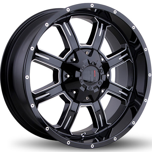 Havok Off-Road H101 Gloss Black with Milled Rivets