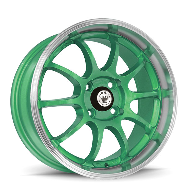 Konig Lightning Gloss Green with Machined Lip
