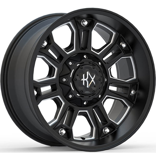 KX Offroad KX12 Matte Black with Milled Spokes