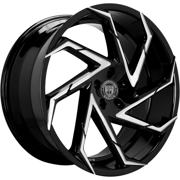 Lexani Cyclone Gloss Black with Machined Accents
