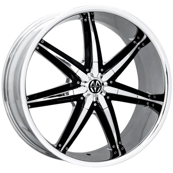 Massiv 923 Spline Chrome with Black Inserts