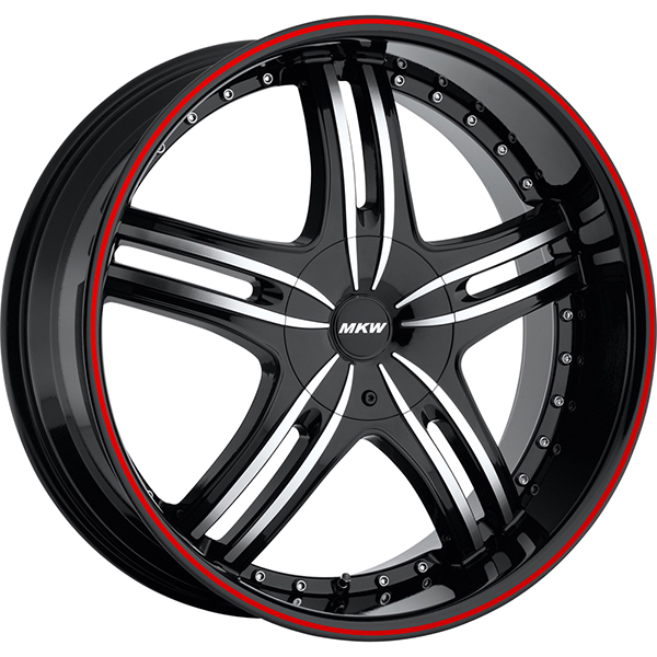 MKW M105 Black Machined with Red Stripe