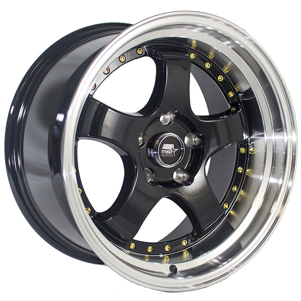 MST MT07 Black with Machined Lip and Gold Rivets