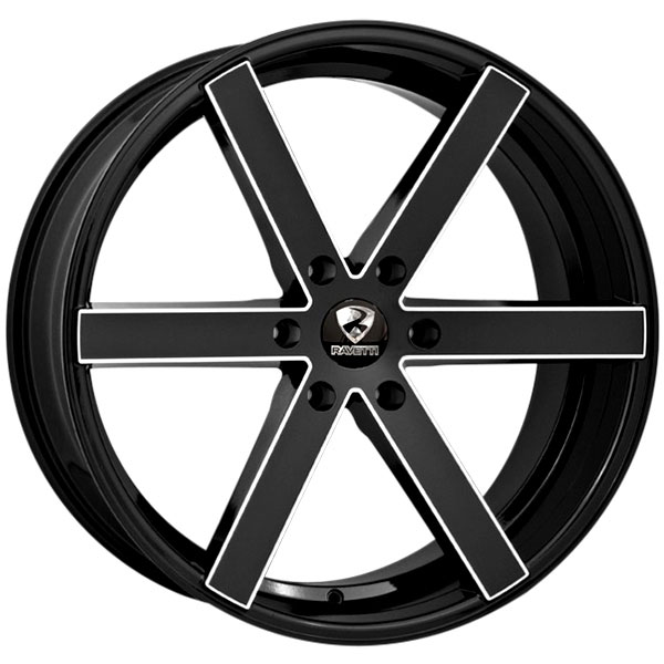 Ravetti M3 Black with Milled Spokes