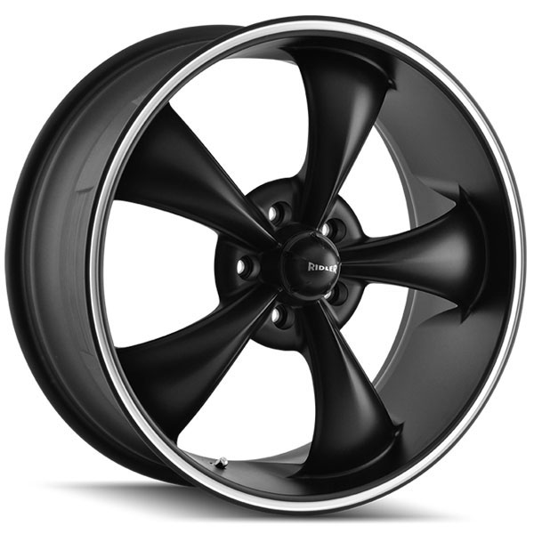 Ridler 695 Matte Black with Machined Stripe