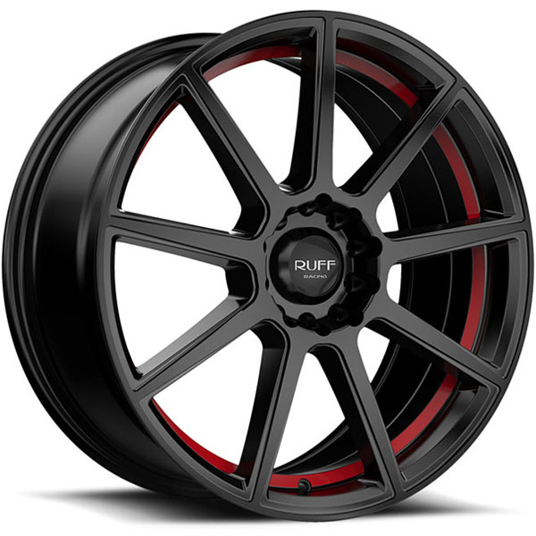 Ruff Racing R366 Satin Black with Red Undercut