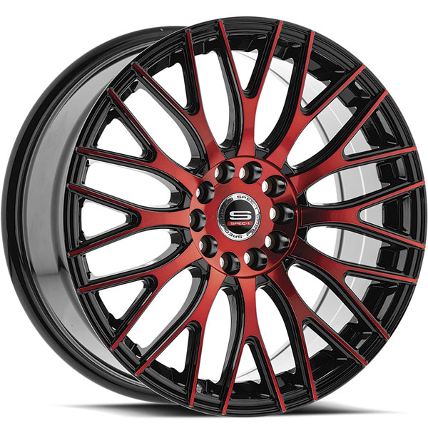 Spec-1 SP-55 Gloss Black with Red Milled Spokes
