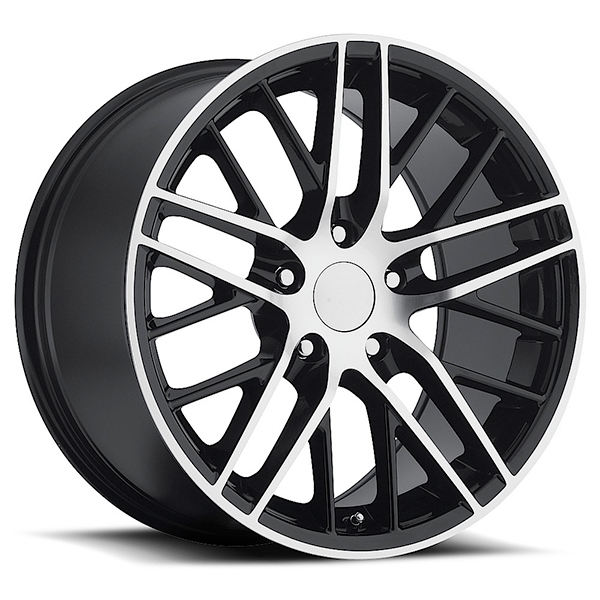 Sport Concepts 862 Gloss Black with Machined Face and Lip