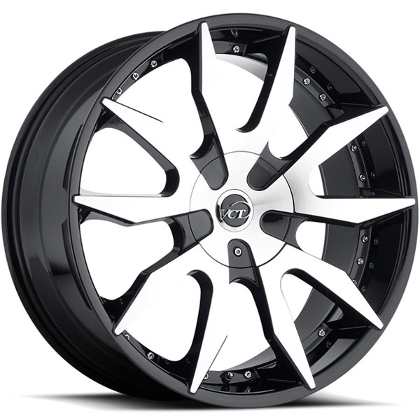 VCT V54 Black with Machined Face