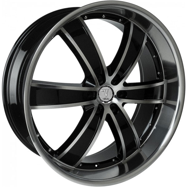 Velocity VW 855B Black with Machined Face