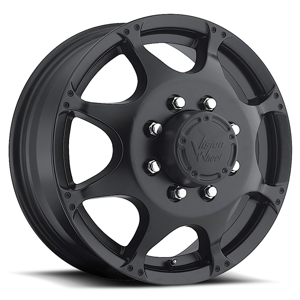 Vision 715 Crazy Eightz Duallie Matte Black Front